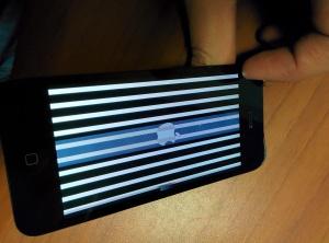 появились полосы на экране iphone 5 после падения