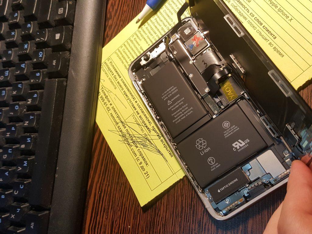 Восстановленный iPhone X на ремонте в сервисе Ремдевайс