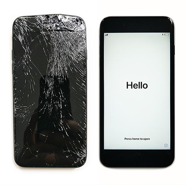 iphone 8 разбилось стекло - срочный ремонт в москве