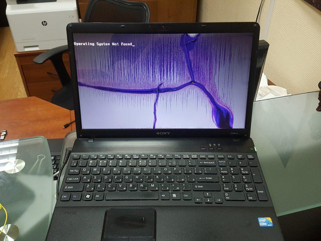 Разбилась матрица в ноутбуке